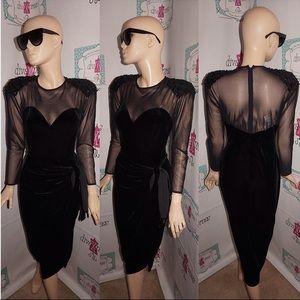 Dresses & Skirts - VINTAGE BETSY & ADAM SHEER SHOULDER DRESS